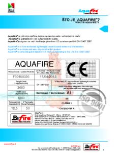 Upute za ugradnju Aquafire